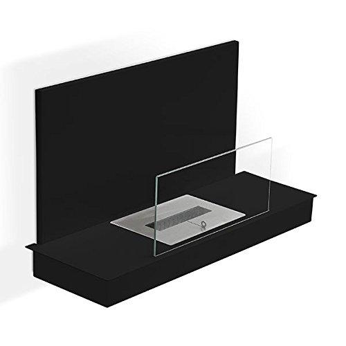 Foco-con-pie-Oslo-XL-Chimenea-de-etanol-negro-estufa-ecolgico-colocar-el-suelo-mobile-porttil