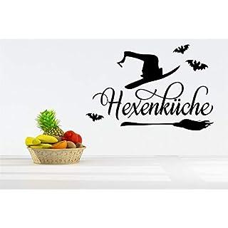 *NEU* Wandaufkleber/Wandtattoo/Wandsticker - Spruch für die Küche ***HEXENKÜCHE - 04*** (Größen.- und Farbauswahl)
