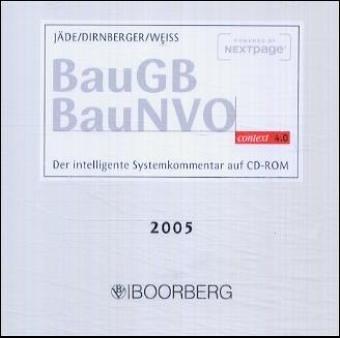Baugesetzbuch (BauGB), Baunutzungsverordnung (BauNVO). context 4.0. CD-ROM für Windows 95/98/NT4/2000/XP. Der intelligente Systemkommentar