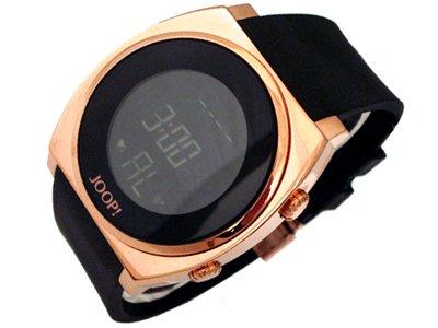 Joop JP100751F03 - Reloj Digital de Cuarzo para Hombre, Correa de Goma Color Negro (Alarma, luz, Registro de Vueltas, cronómetro)