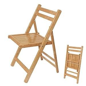 Sobuy fst07 n 100 bambou naturel chaise pliable - Chaise pliante cuisine ...