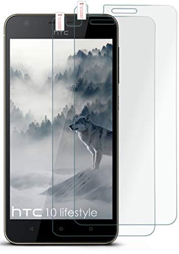 moex 2X 9H Panzerfolie für HTC Desire 10 Lifestyle | Panzerglas Bildschirm Glasfolie [Tempered Glass] Screen Protector Glas Bildschirmschutz-Folie für HTC Desire 10 Lifestyle Schutzfolie