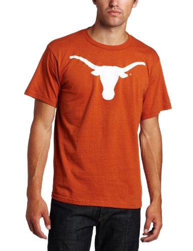 Majestic NCAA Herren Fußball Icon Short Sleeve Tee XXL Texas Longhorns