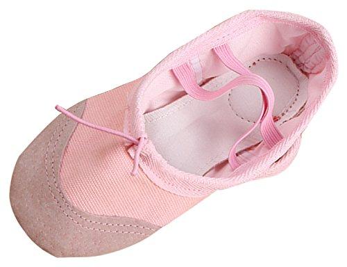 NAYIYA Chaussures de Ballet Fille Ballerines Danse Classique en Toile Chaussures Pilates pour Danse Yoga Pilates Gymnastique pour Enfant Femme EU 26-36