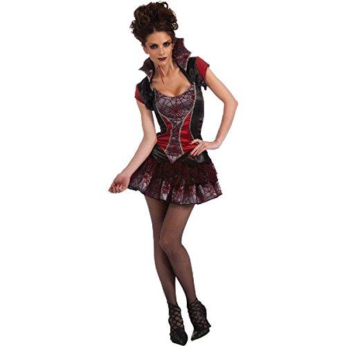 sexy Damen Kostüm Vampirin zu Halloween Karneval Fasching Gr.STD (Sexy Vampira Kostüm)
