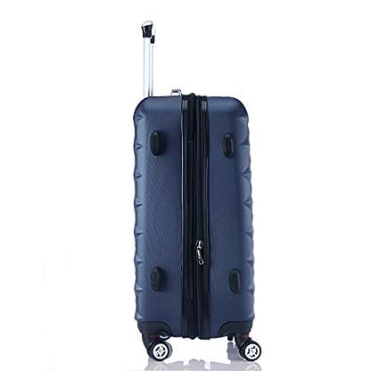 41EW5MCM1xL. SS416  - Ruedas gemelas 2066rígida Maleta Equipaje de viaje Maleta viaje para M de l de XL de Juego en 12colores, azul oscuro, extra-large