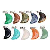 Healifty 10 Piezas Colgantes Piedras de Cristal de Luna Colgante Encanto para Joyería Pulsera Collar (Color Al Azar)
