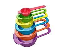 Magikware Plastic Measuring Cup Set, 6-Pieces, Multicolour
