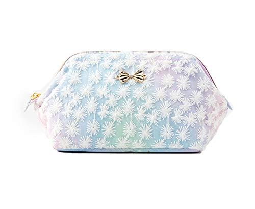 Borsa a mano in pizzo fiocco di neve, elegante, dolce, piccola borsetta con fiocco, piccola custodia di trucco