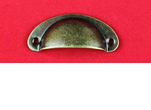 Fengh Zehn PCs Antik Shell Pull Griff Küche Schrank Tür Tasse Schublade Möbel (Küche Pulls Tasse)