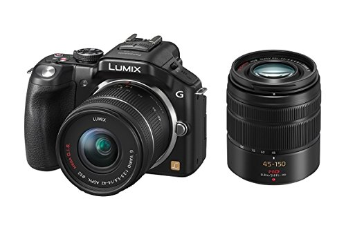 Panasonic Lumix DMC-G5W Mirrorless with 14-42mm & 45-150mm Lens