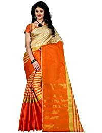 Mona Designer Women's Cotton Silk Saree With Blouse Piece