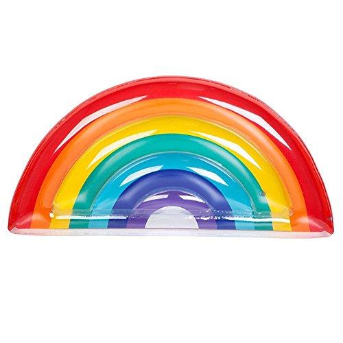 DMGF Aufblasbare Pool Floats Floß Regenbogen Liegen Sommer Outdoor Schwimmen Freizeit Sitz Wasser Party Spaß Kreative Riesen Spielzeug Für Erwachsene Kinder