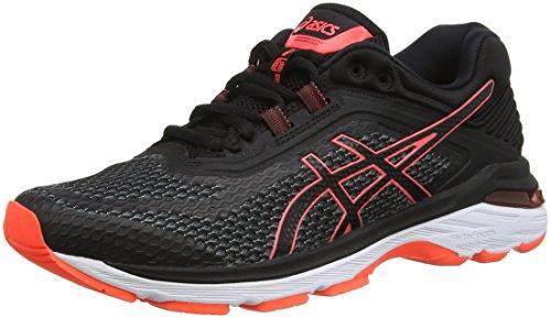 ASICS Gt-2000 6, Chaussures de Running Femme, Multicolore (Black/Flash Coral 001), 39 EU