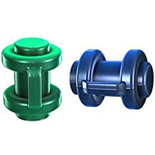 2 Hudora Endkappen 25 mm grün / blau für Trampolin 300 / 305 / 366