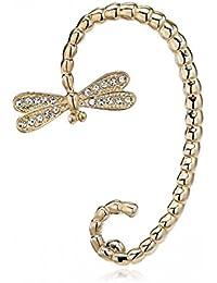 Ashiana Dragonfly Ear Cuff Wrap Earring (Left Ear Only) - Gold