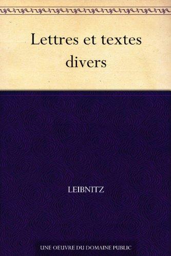 Couverture du livre Lettres et textes divers