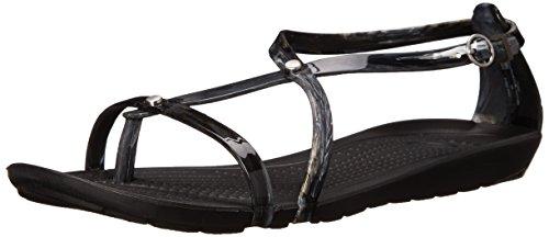 Crocs Wirklich Sexi Marmorierte Sandale Black/White/Black