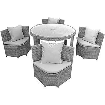 Amazon.de: Gartenmöbel Sitzgruppe Möbel Balkon Terrasse Polyrattan