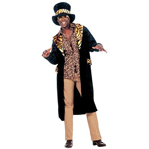 Zuhälter Kostüm Rapper Prolet Pimp Big Daddy Herrenkostüm Fasching Karneval L 50/52