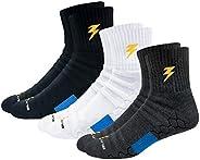 BLITZSOX Hi-Tech Performance Athletic Socks (Badminton, Running, Gym & Indoor Training), Pack