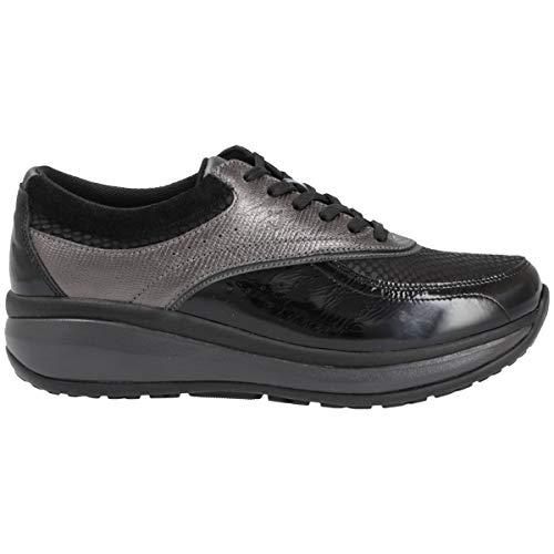 Joya Mujer Sydney Cuero Black Grey Zapatos 37 2/3