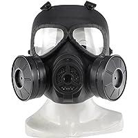 UKCOCO Máscara protectora táctica, máscara del gas tóxico tonto del cráneo Máscara protectora para el rostro máscara del esqueleto del cráneo con doble ...