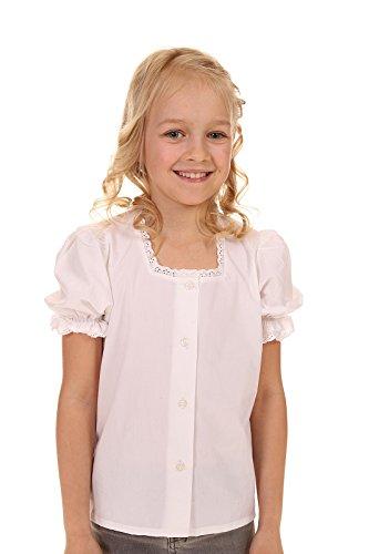 Isar Trachten Kinder Bluse & Shirt 44940 WEIß