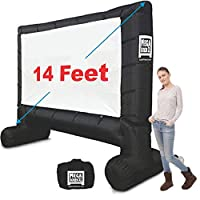 ‏‪MEGA SCREEN MOVIE SCREEN - INFLATABLE PROJECTION SCREEN- PORTABLE HUGE OUTDOOR SCREEN - Over 2.7m DIAGONAL‬‏