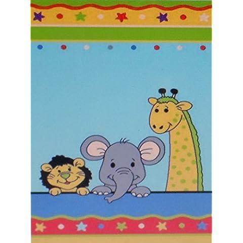 Tappeto per bambini/bambini tappeto/gioco tappeto/Baby tappeto/bambini gioco tappeto/tappeto/tappeto PASSATOIA modello Lifestyle Kids/di alta qualità tappeto bambini tappeto animali dello Zoo elefante leone giraffa, 80 x 150 cm