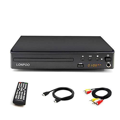 Lecteur DVD Compact 1- 6 Multi-Régions Free, Sortie HDMI / AV, Entrée USB & MIC Port et Télécommande (LP-099 avec hdmi)
