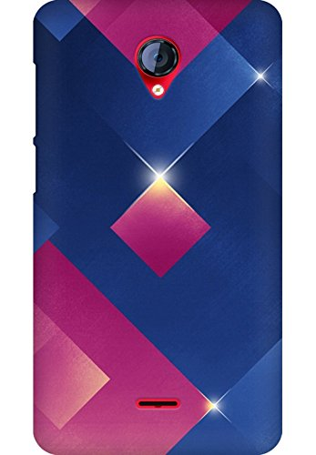 AMEZ designer printed 3d premium high quality back case cover for Micromax Unite 2 A106 (The 3D blue pink light-emitting body)  available at amazon for Rs.249