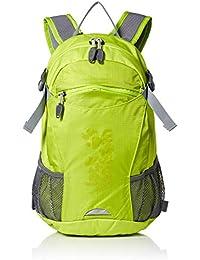 Jack Wolfskin Velocity 12 Rucksack aus Polyamid/Polyester, Grün/Grau - Rucksäcke (Polyamid, Polyester, Grün, Grau, einfarbig, 300D, Unisex, Fronttasche, Seitentasche)
