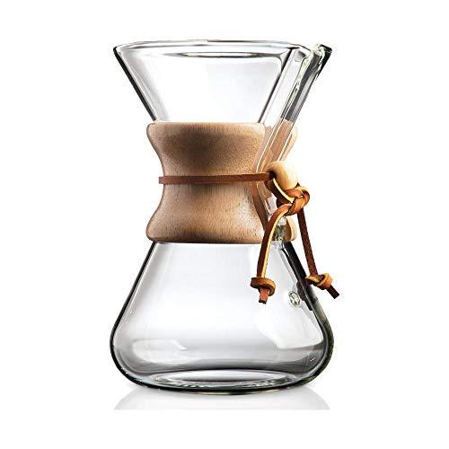 Chemex Cafetera de 6 tazas (880 ml) con collar de madera