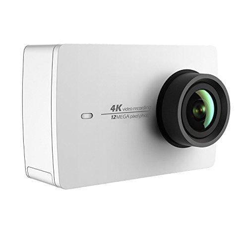 """YI 4K Acción Cámara WiFi HD Cámara Acuatica 1400mAH 120 minutos 4K/30fps grabación,2.19""""LCD con Pantalla Táctil Blanco"""