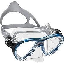 Cressi Men's Big Eyes Evolution Scuba Diving and Snorkeling Mask, Clear/Blue Black, One Size