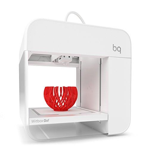 BQ Witbox Go! - Impresora 3D (Qualcomm Snapdragon 410, Memoria 8 GB, Android M, reducción de Ruido, LED de…