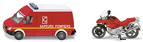 Siku - 1656F - Véhicule Miniature - Modèle À L'Échelle - Set Pompiers - Echelle 1/64