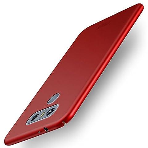 LG G6 Capot Arrière Coque - Ultra Mince PC Dur Couverture Arrière Protection Housse Bouclier Case pour LG G6 Smartphone Dos Coque Etui - Rouge