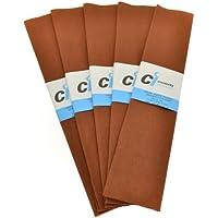 CI - Papel crepé para manualidades (10 unidades, 50 cm x 2 m), color marrón