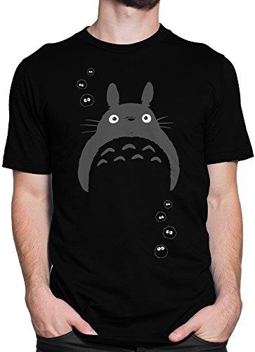 Mein Nachbar Totoro Studio Ghibli Kult Fan Shirt / Premium Fun Motiv T-Shirt XS-5XL mit Aufdruck / Ideales Geschenk, Color:Schwarz, Size:L (Japanische Kostüme Für Männer)