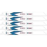 EZARC Hojas de sierra sable R922PT para Corte de delgado-Mediano metales 18TPI 225mm (pack de 5)