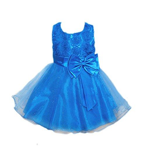OverDose Kleinkind Baby Mädchen Bling Pailletten Ärmellos Brautjungfern Tutu Prinzessin Kleid Abendkleid Geburtstag Weihnachten Party Kleider(2T,Hellblau) (Insekten Dress Fancy)