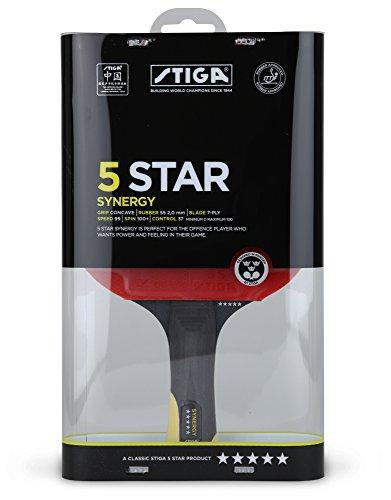 Stiga - Raquette Synergy 5 étoiles de ping pong tennis de table
