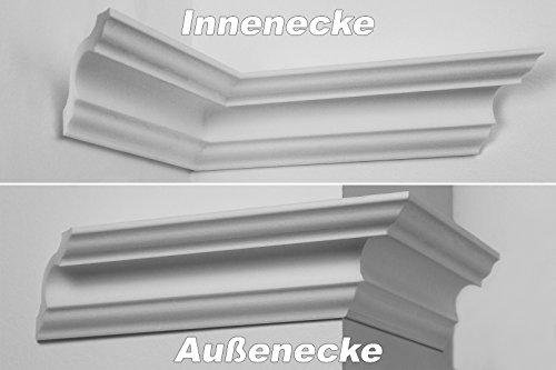 Innenecke Außenecke Stuck Innendekor für Marbet Zierleisten E-1 bis E-35, NK-E, Modell:NK-E-14 (E-14)