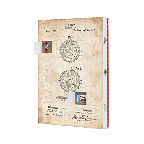 artboxONE Adventskalender XXL mit Produkten von Kinder® Kreissäge Patent (Antik) Adventskalender Für Papa