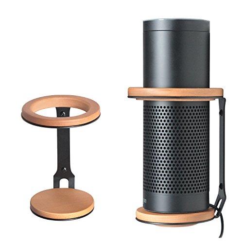 JackCubeDesign Amazon Echo Wandhalterung Bambus Eisen Lautsprecher Schutzständer Halter für Alexa Echo mit starker Unterstützung -: MK326A