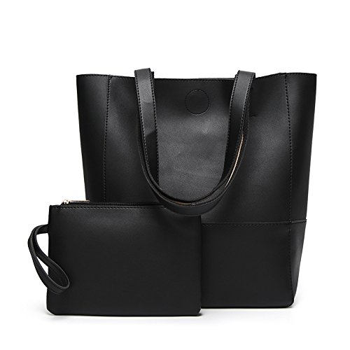 GUANGMING77 Borsa _ Benna Sacco Cuciture Colore Tote Bag Hit Dice Madre Bag,Marrone Black