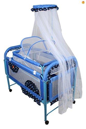 Baybee Maginificia Crib N Cradle (Blue)