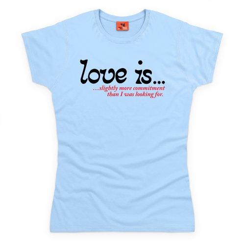Love Is T-Shirt, Damen Himmelblau